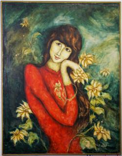 T- Nhan 1968 oil painting