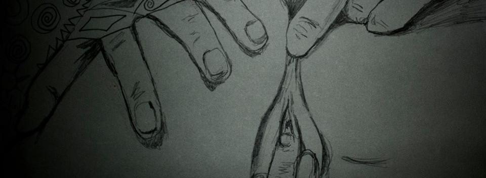 Dedeando. Pencil on Canvas.