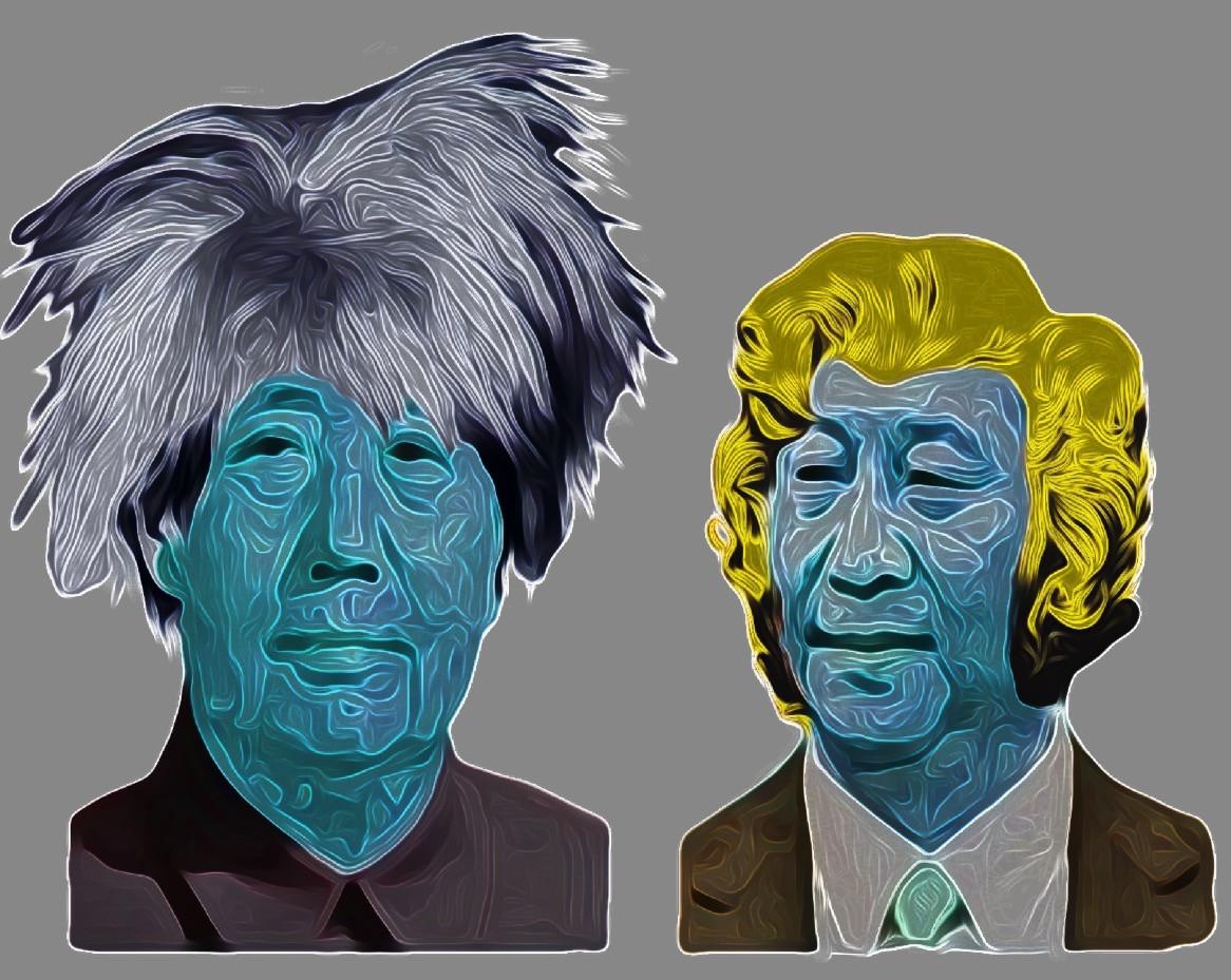 Post-Pop Art Digital Collage.