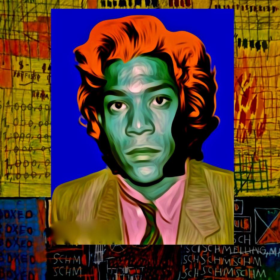 Jean Michell Warhol Digital Collage.