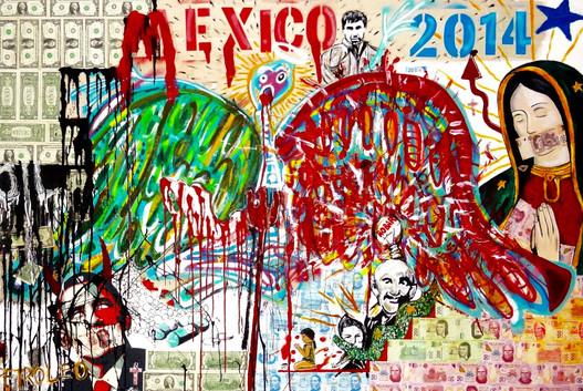 Mexico 2014. Mixed Media on Canvas.