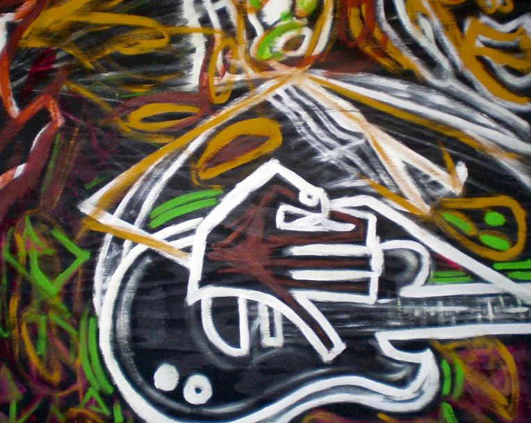 Los Tres Musicos 2006. Mixed Media on Ca