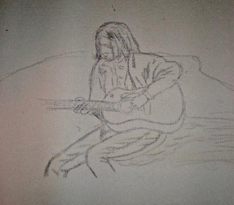 Kurt Cobain Study on Paper.