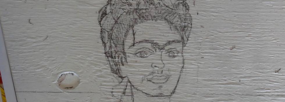 Frida Kahlo. Painting Process.