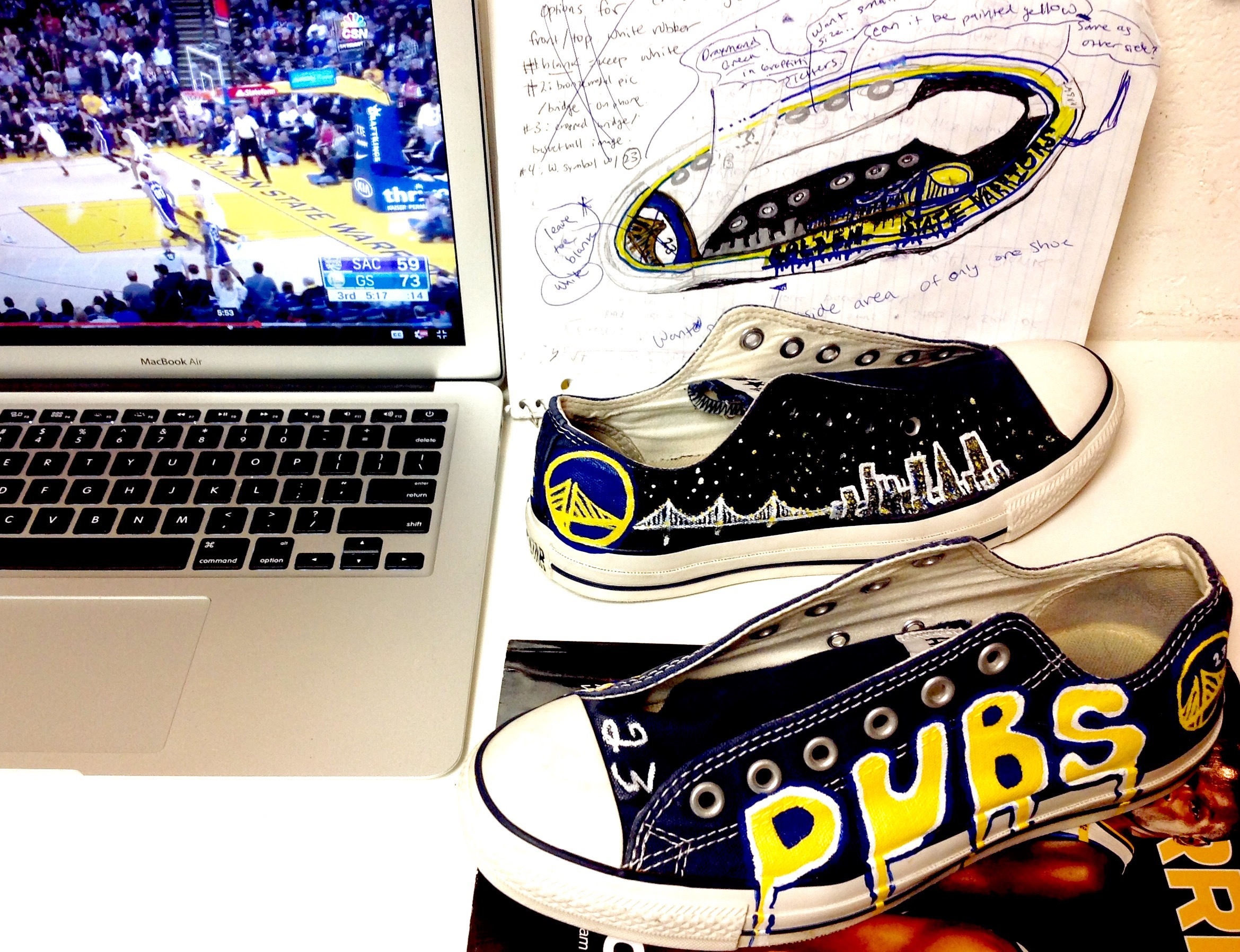 Golden state shoes