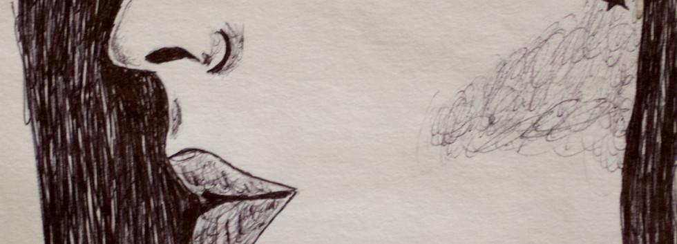 Kat Von D. Ink on Paper.