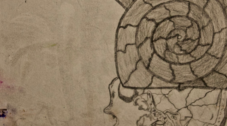 Inside My Head. Pencil on Paper.