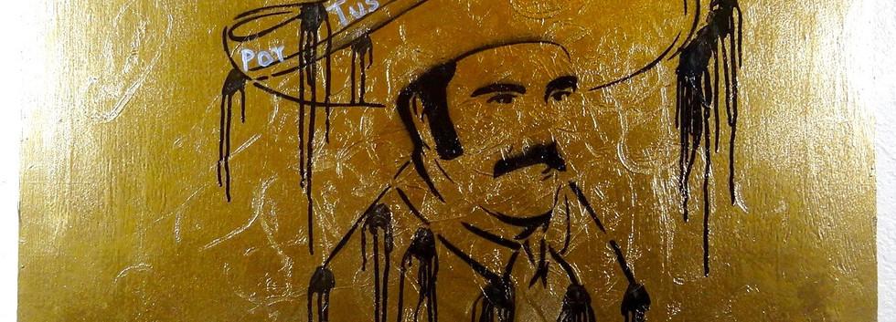 Vicente Fernandez. Mixed Media on Wood.