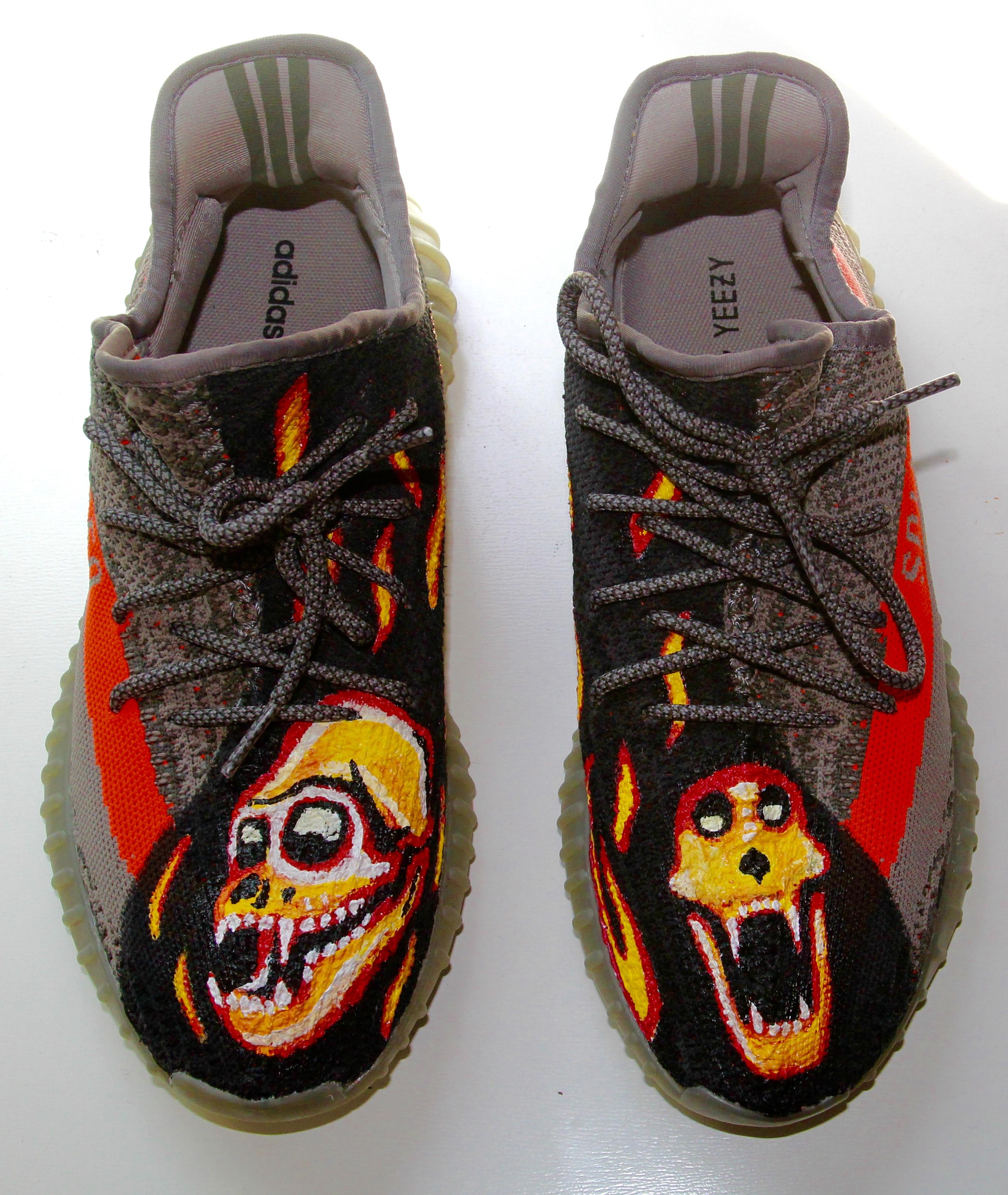 Burning monkey shoes!