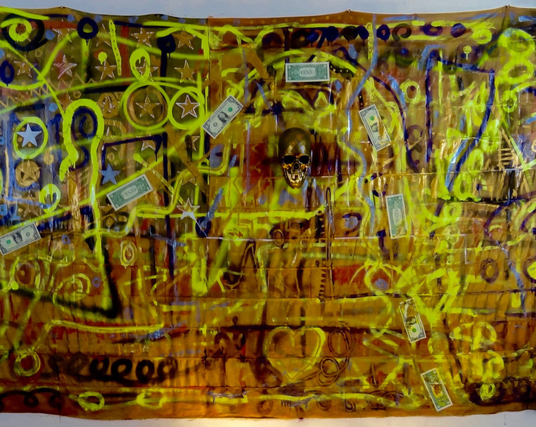 Neo Expressionism Modern. Mixed Media on