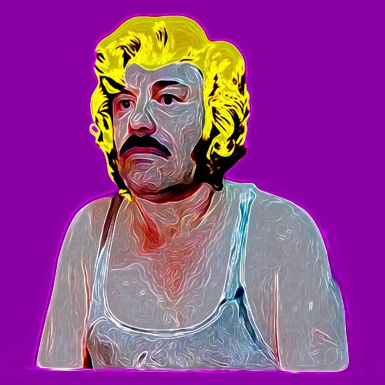 El Chapo Monroe Digital Collage.