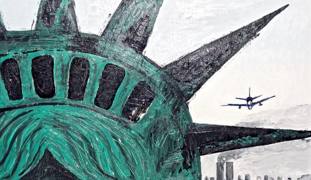 El 11 de Septiembre. Acrylic on Wood.