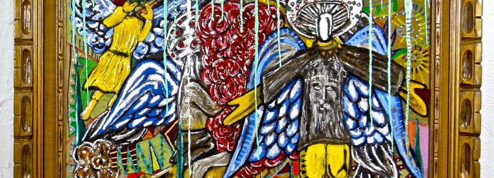 Medicinal Painting. Mixed Media on Canva