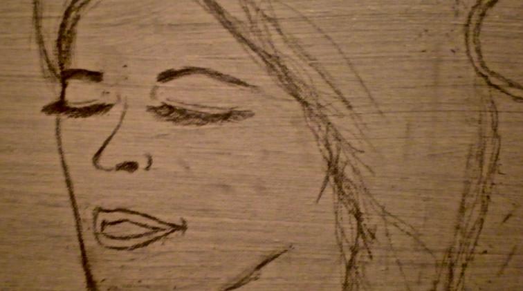 Woman Study. Pencil on Board.