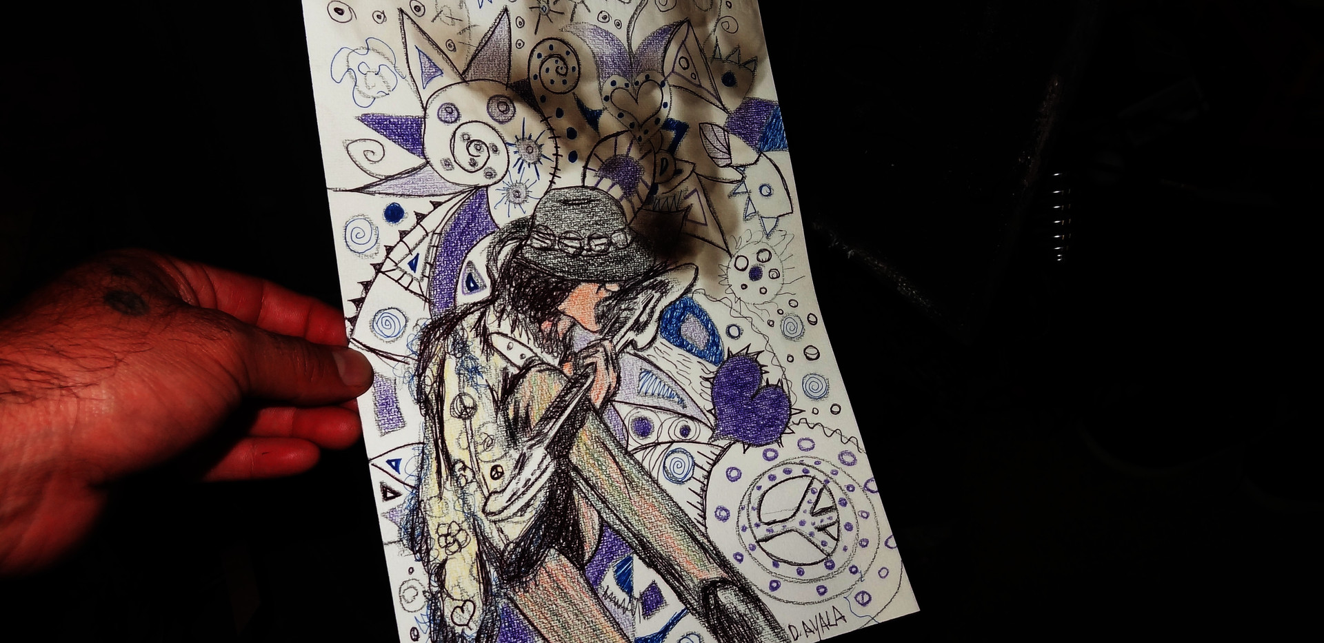 Hendrix Drawing.