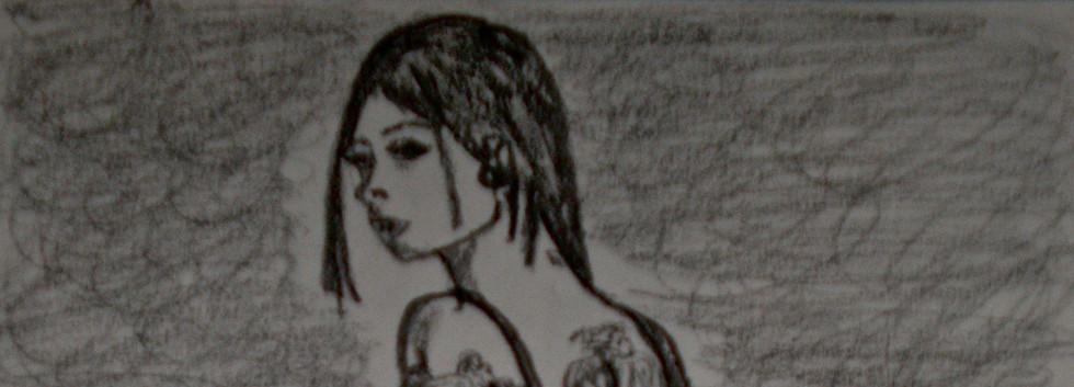 Joanna Angel. Pencil on Paper.