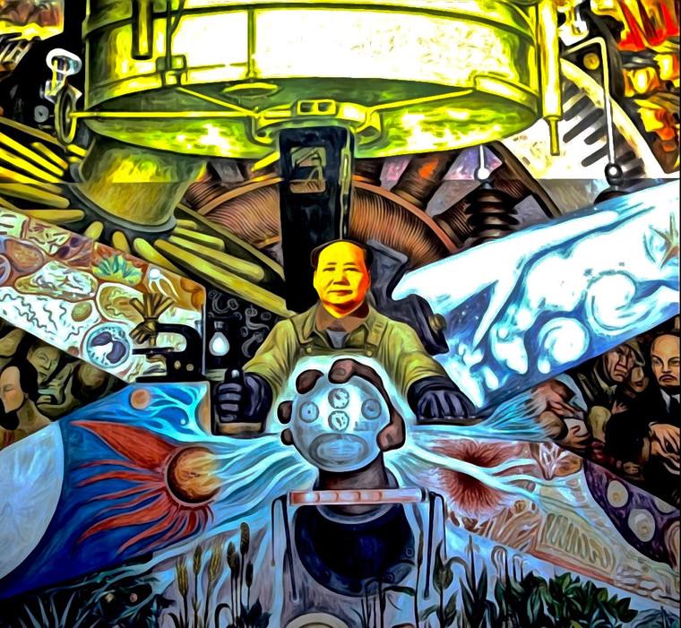 Mao Tse Tung Digital Collage.