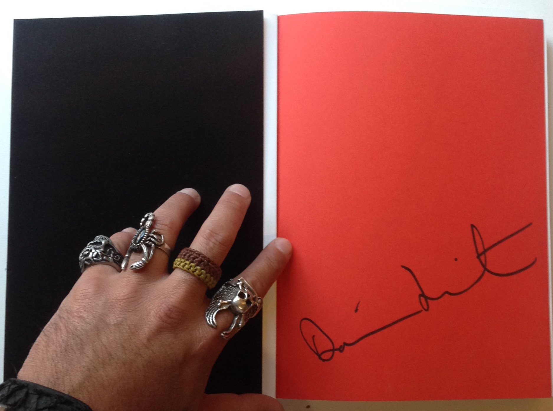 Damien Hirst signed book