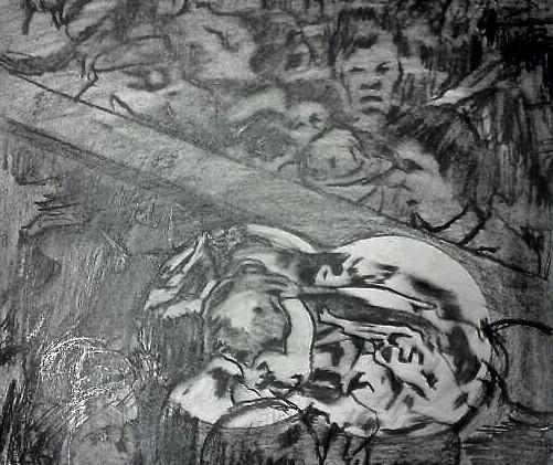 Asesinato de Colosio. Pencil on Paper.