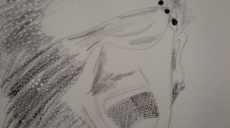 Bono. Pencil on Paper.