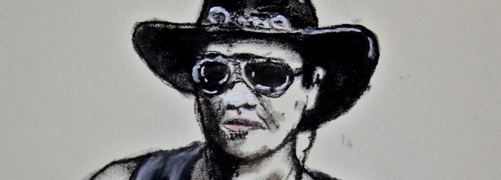Selfportrait pastel on paper