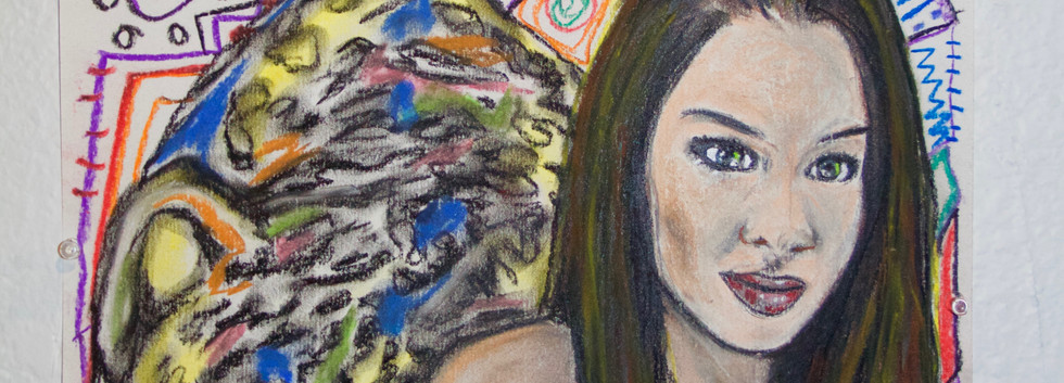 Pastel on paper drawing