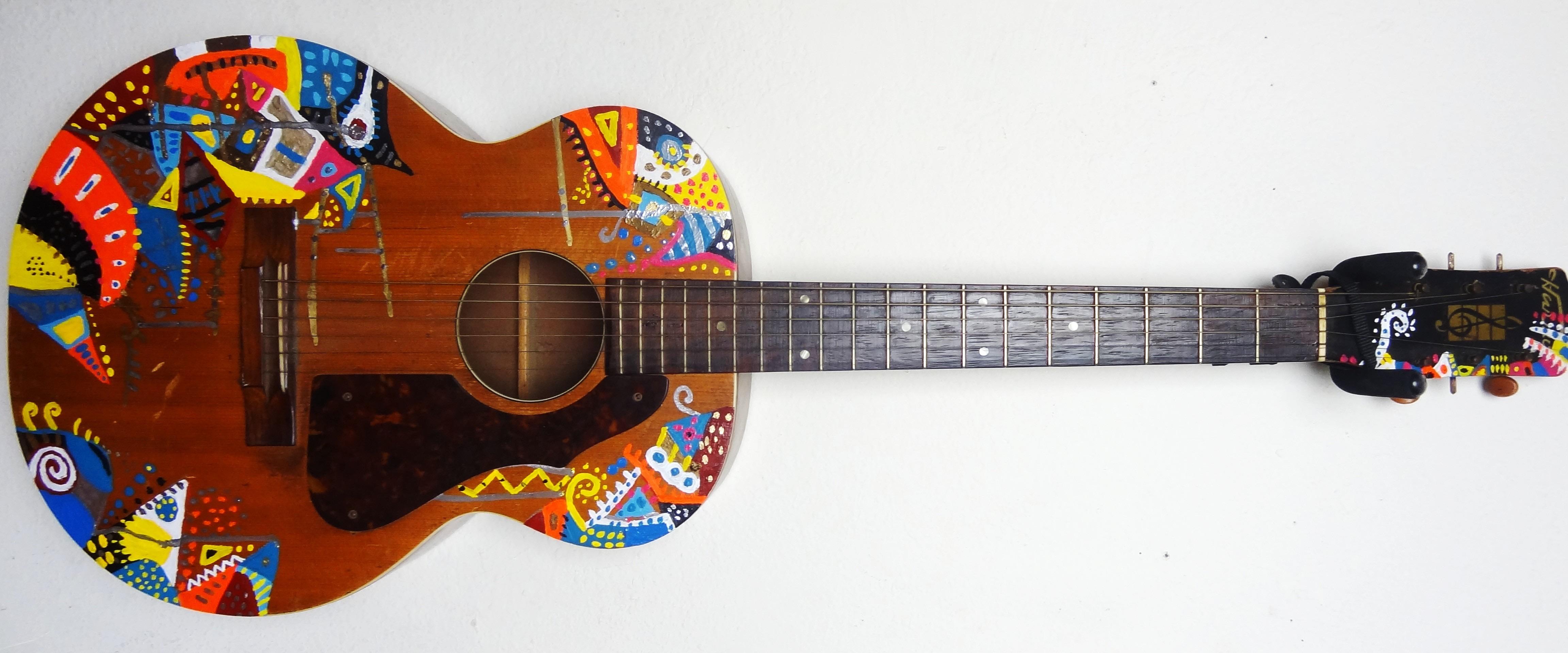 Custom Painted guitar 1
