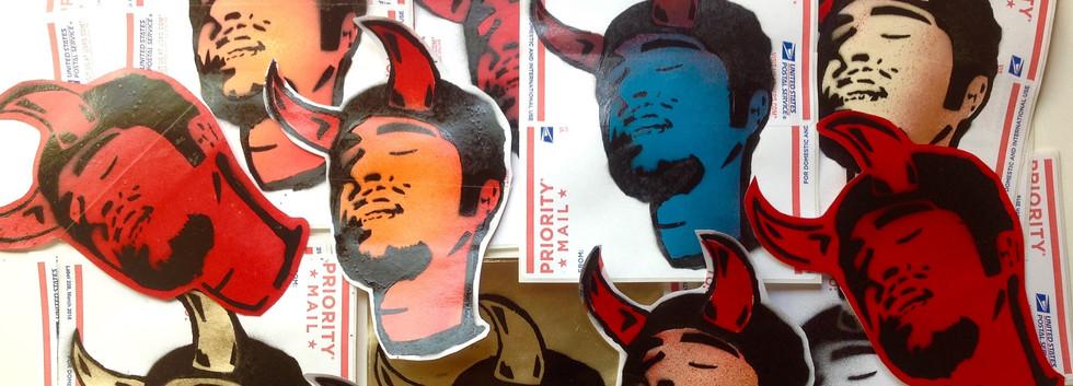 Evil Stencil Stickers.
