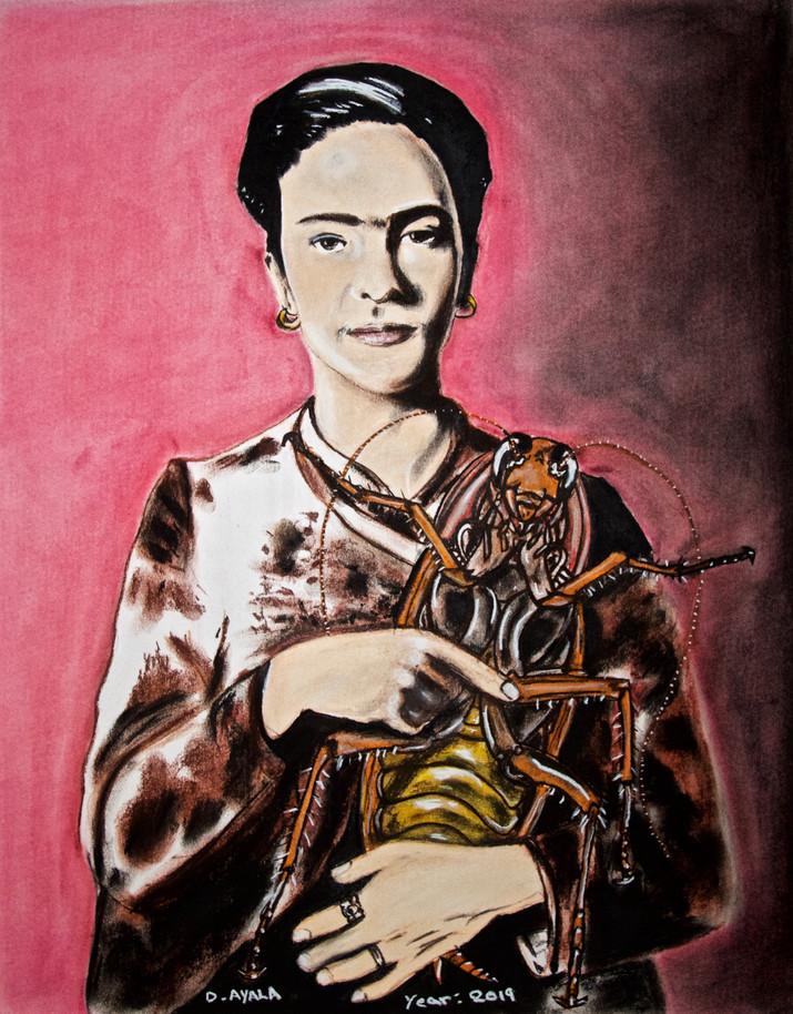 Frida y her baby la Cucaracha.
