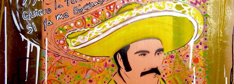 El Chente. Mixed Media on Canvas.