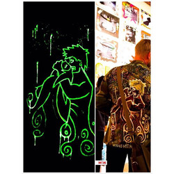 Glow in the dark hand painted