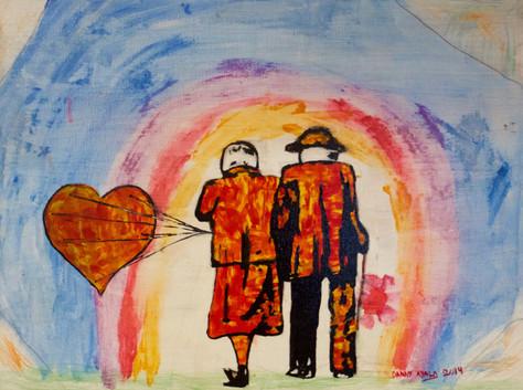 Amantes Hasta el Final. Mixed Media on Canvas.