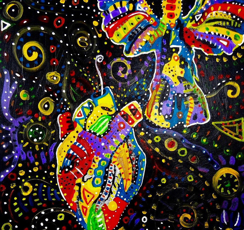 Untitled Angel. Acrylic on Canvas.
