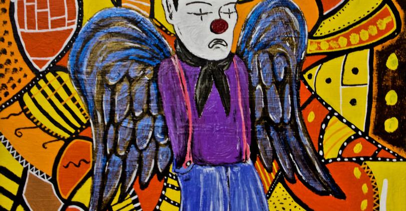 Looser Clown. Acrylic on Canvas.
