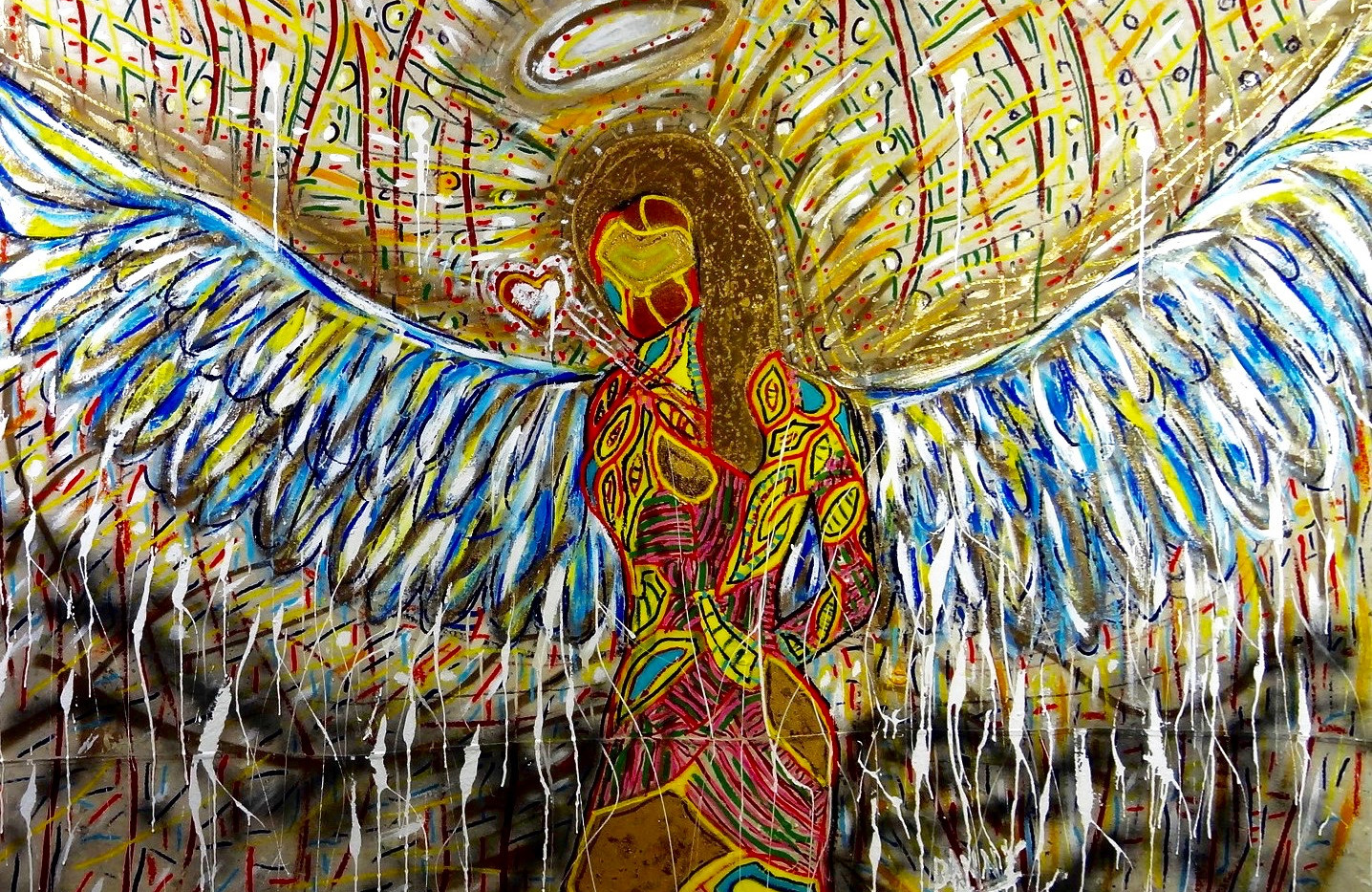 This Angel is Just For You. Mixed Media.