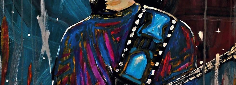 Santana Soul Fire. Acrylic on Canvas.