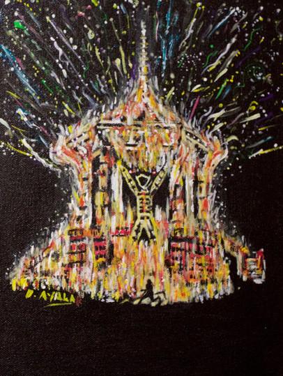 The Burning Man 2017. Acrylic on Canvas.