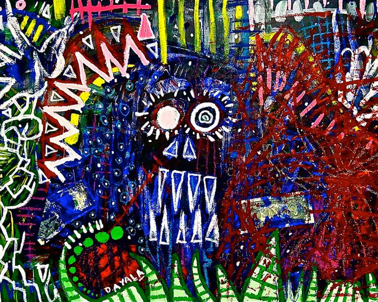 Demonio Azul. Mixed Media on Canvas
