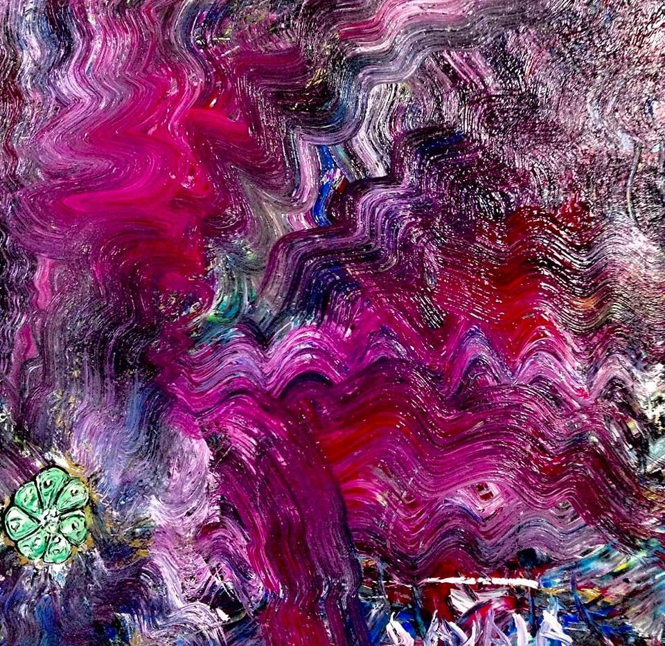 Peyote Medicinal Painting. Mixed Media o