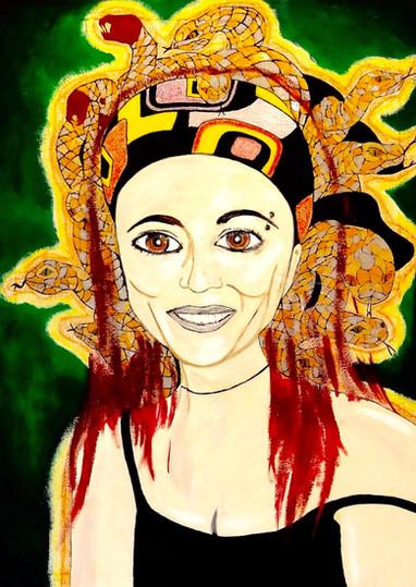 Mariela La Medusa. Acrylic on Canvas.