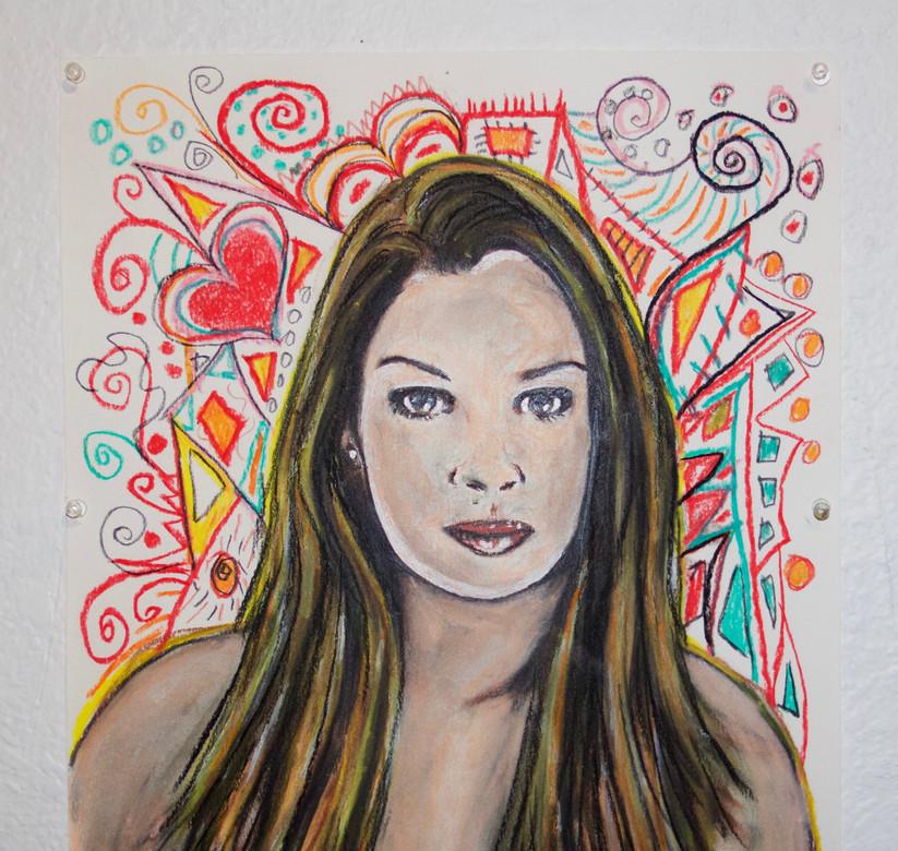 Pastel on paper art