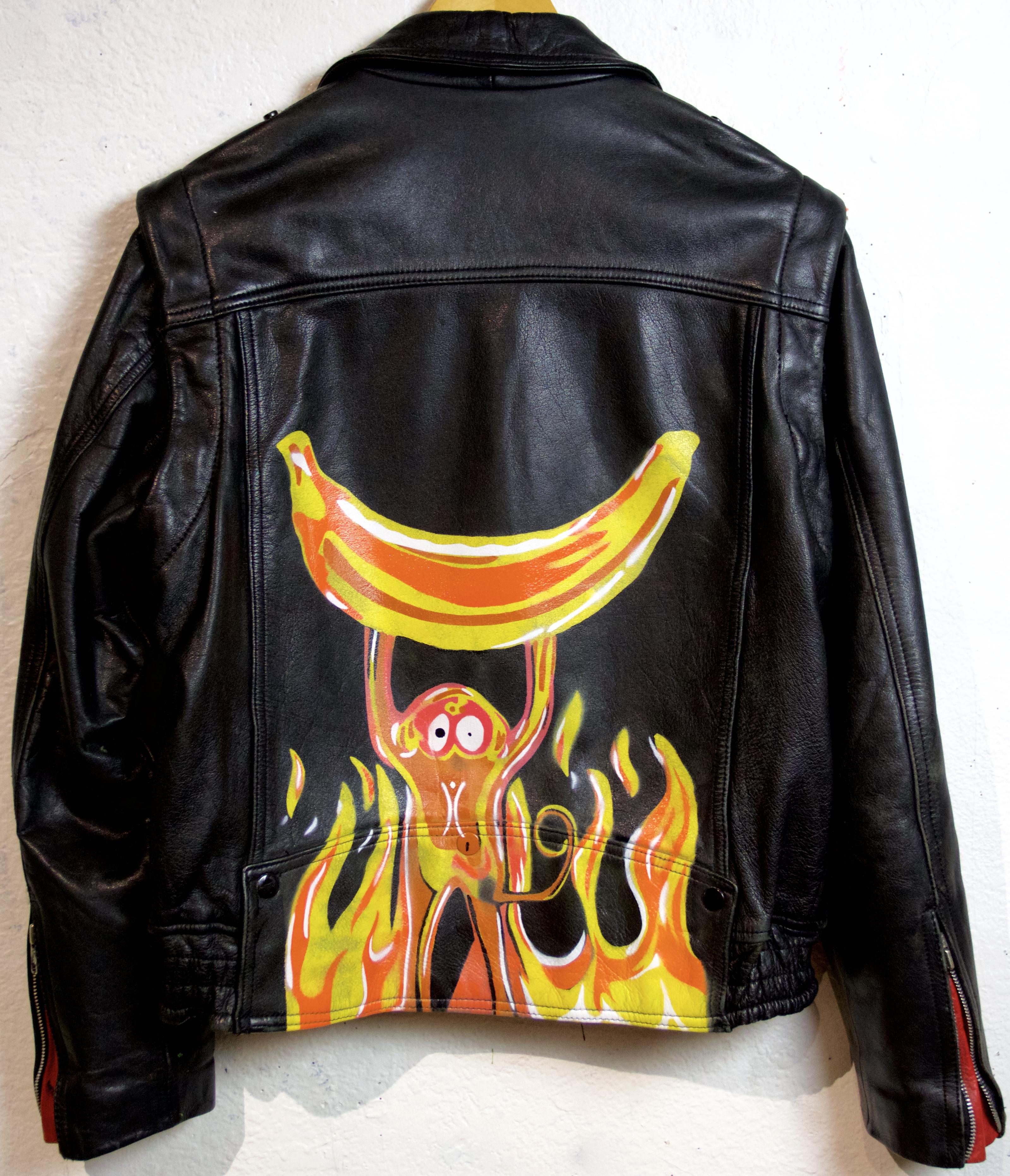 Burning monkey jacket