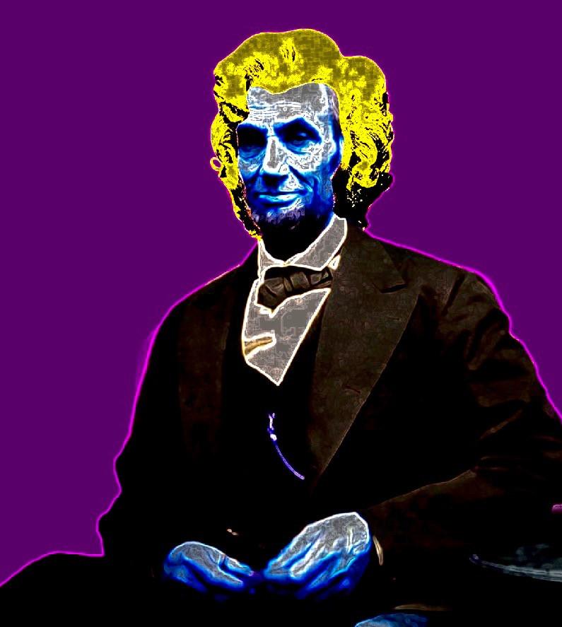 Abraham Warhol Digital Collage.