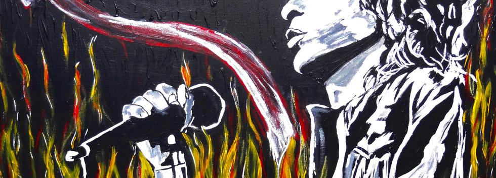 Light my Fire. Acrylic on Canvas.