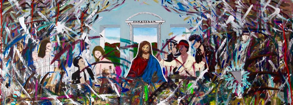 La Ultima Cena. Mixed Media on Canvas.