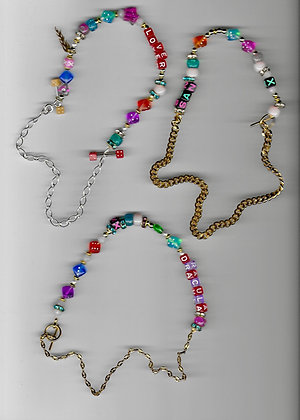 Half chain beaded necklace.