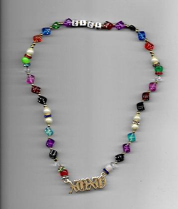 XOXO Beaded Necklace