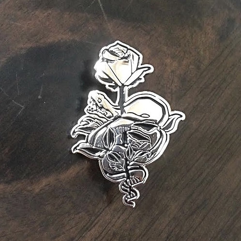 snake pin (silver)