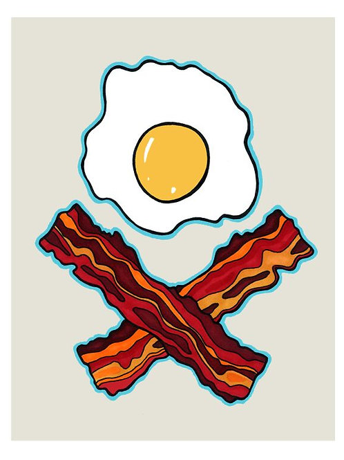 death by breakfast print