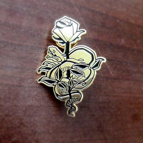 snake pin (gold)